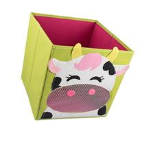 Smiling Cow Collapsible Toy Storage Box and Closet Organizer