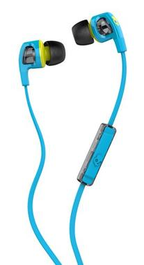 Skullcandy Smokin' Buds 2 Earbuds with Mic Hot Blue/Hot Lime