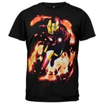 Iron Man - Smolder Flame T-Shirt - XL