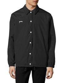 Stussy Smooth Stock Coach Jacket-BLACK-Medium