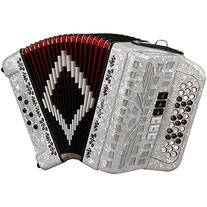 SofiaMari SMTT-3412, Two Tone Accordion White Pearl Fa/Mi