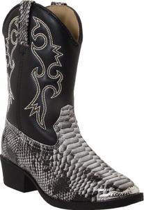 Laredo Snakebit Boots ,Black/White,11 M US Little Kid