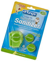 Dr. Tung's Snap on Toothbrush Sanitizer, Flavor/colors Vary