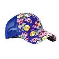 Eforstore Snapback Baseball Cap Floral Perforated Ball Caps