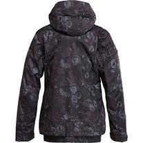 Roxy SNOW Juniors Juno Snow Jacket, Dark Floral Anthracite,