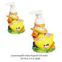 Soap/ Lotion Dispenser - Spring Duck - Set of 2