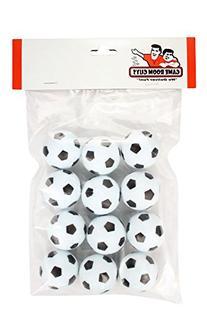 Set of 12 Soccer Ball Style Foosballs for Tornado, Dynamo or