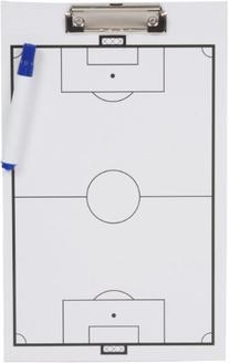 Trademark Innovations Soccer Erasable White Clipboard