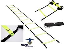Cintz 30 ft Fixed rungs Soccer Speed and Agility ladder in a