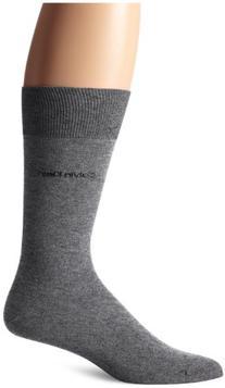 Calvin Klein Men's Socks, Giza Cotton Flat Knit Crew Dress