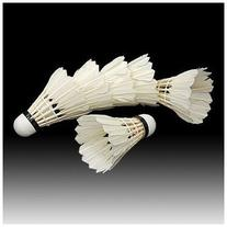 TOOGOO 6PCS White Feather Shuttlecocks Badminton