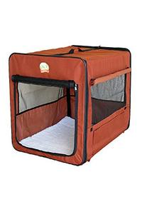 Go Pet Club Soft Crate for Pets, 32-Inch, Brown