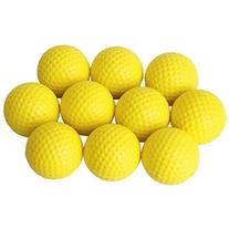 VORCOOL 10pcs Soft Elastic Indoor Practice PU Golf Balls
