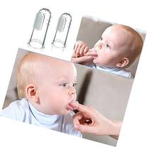 2Pcs Baby Kids Soft Safe Silicone Finger Toothbrush Gum