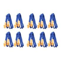 Foxnovo 10 Pairs of Soft Silicone Corded Ear Plugs Reusable