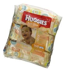 Huggies Soft Skin Baby Wipes, Soft Pack, with Shea Butter 56