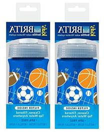 Soft Squeeze Water Filter Bottle For Kids, Navy Blue Sports
