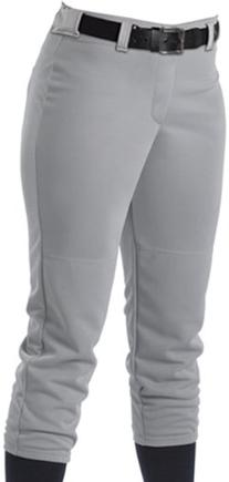 Alleson Women's Softball Pants With Belt Loops, Gray, S