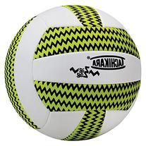 Tachikara SofTec Zigzag Volleyball, Lime Green/White/Black