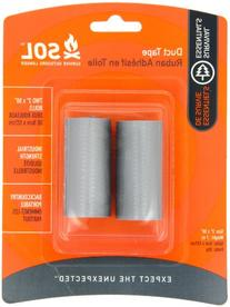 Adventure Medical Kits Sol Duct Tape, 2 X 50 Inches Rolls