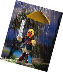 Solar Duck Rain Gauge Lawn Figurine