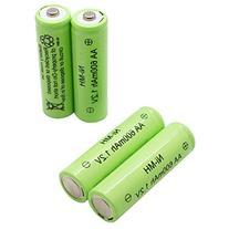 ASC Solar Light AA Ni-MH 600mAh Rechargable Batteries