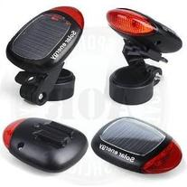 AOR Flashlights Black/Red Solar Powered Clip-On Bicycle