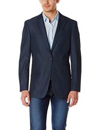 Tommy Hilfiger Men's Solid Denim Blazer, Blue, 42 Long