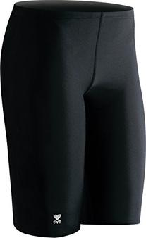 TYR  Boys' Solid Jammer Swim Suit,Black,22