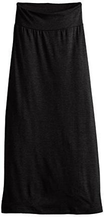 Amy Byer Big Girls' Solid Maxi Skirt, Black, Large