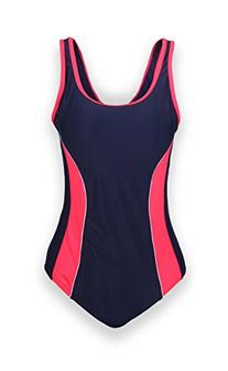 ReliBeauty Womens Solid One Piece Bathing Suit , Navy Blue