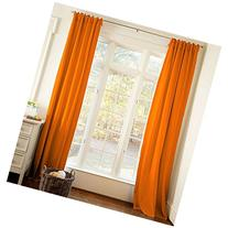 Carousel Designs Solid Orange Drape Panel 64-Inch Length