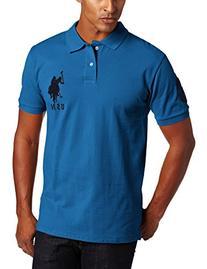 U.S. Polo Assn. Men's Solid Short Sleeve Pique Polo, Warm