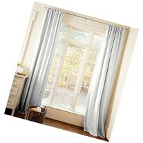Carousel Designs Solid Silver Gray Drape Panel 64-Inch
