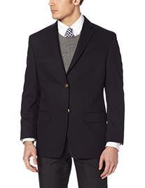 Haggar Men's Solid Two Button Center Vent Sport Coat,  Navy