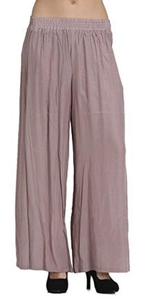CARAPACE Womens Women's Solid Wide Leg Pants with Elastic