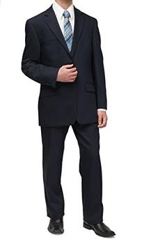 Michael Kors Mens Solid Navy Blue Wool Suit- Size 46S