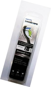 Philips Sonicare Diamond Clean Black Standard Brushheads,