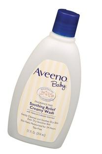 Aveeno Baby Soothing Relief Cream Wash, 12-Fluid Ounces