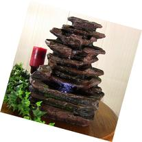 Sunnydaze Soothing Rock Falls Tabletop Fountain with LED