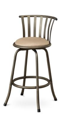 Poundex Sophia Swivel Barstool with 24-Inch Height or 29-Inch Height Adjustable Height, Set of 2