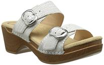 Dansko Women's Sophie Dress Sandal, White Crocodile, 37 EU/6