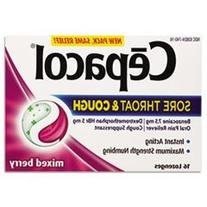 Sore Throat and Cough Lozenges, Mixed Berry, 16