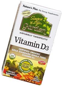 Nature's Plus Source of Life Garden Vitamin D3 60 V Caps