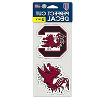 "NCAA University of South Carolina Perfect Cut Decal , 4"" x 4"