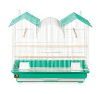 Prevue Hendryx SP1804TR-2 Triple Roof Bird Cage, Teal and