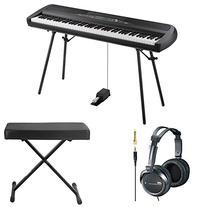 Korg SP280BK 88-Key Digital Piano and Speaker with Knox X-