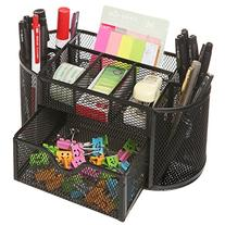 Space Saving Black Metal Wire 8 Compartment Office / School
