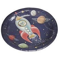 Ginger Ray Space Adventure Party Spaceship Paper Kids Plates