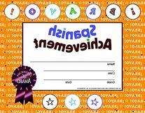 Hayes Spanish Achievement Stick-To-It Reward Certificate